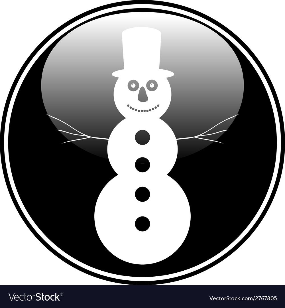 Snowman button vector | Price: 1 Credit (USD $1)