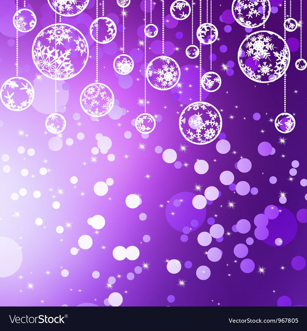 Violet christmas bauble background vector | Price: 1 Credit (USD $1)