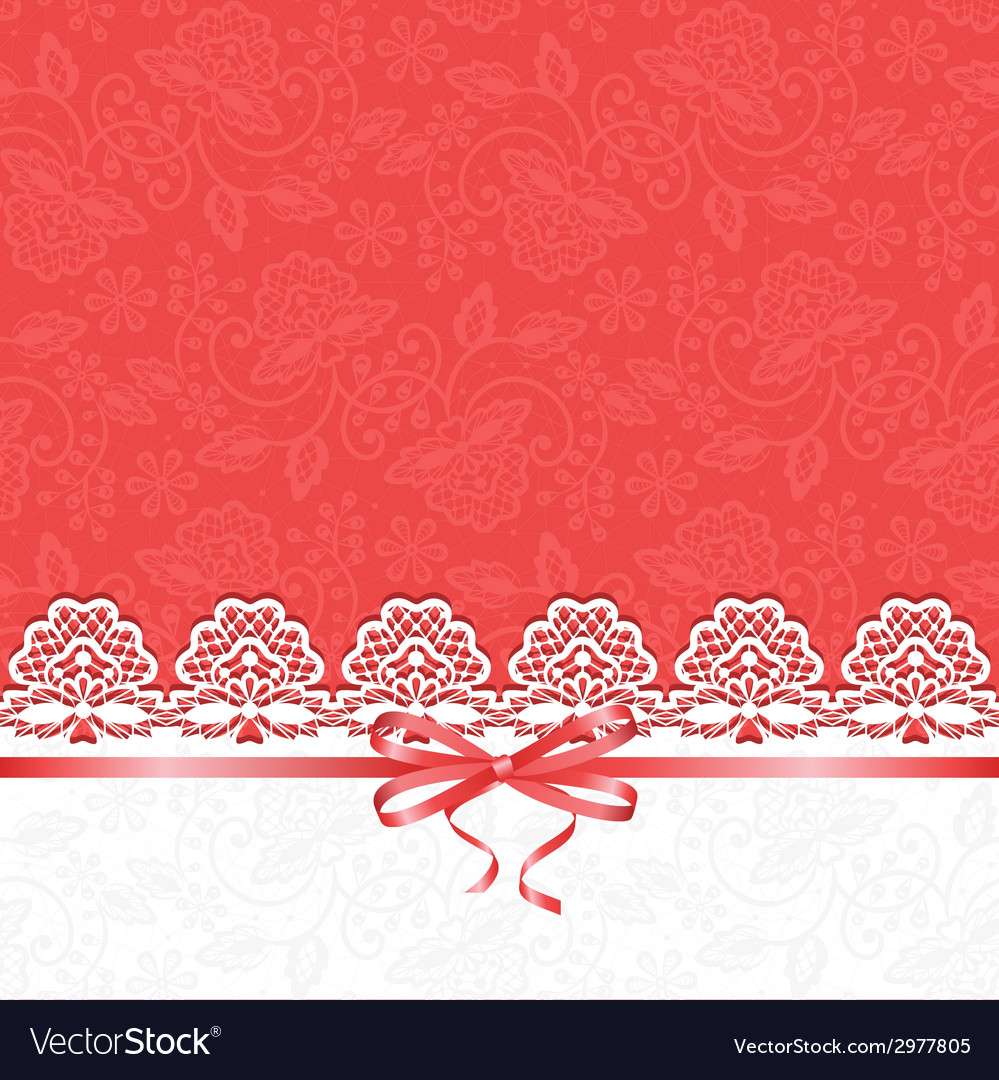 White lace on red background vector | Price: 1 Credit (USD $1)