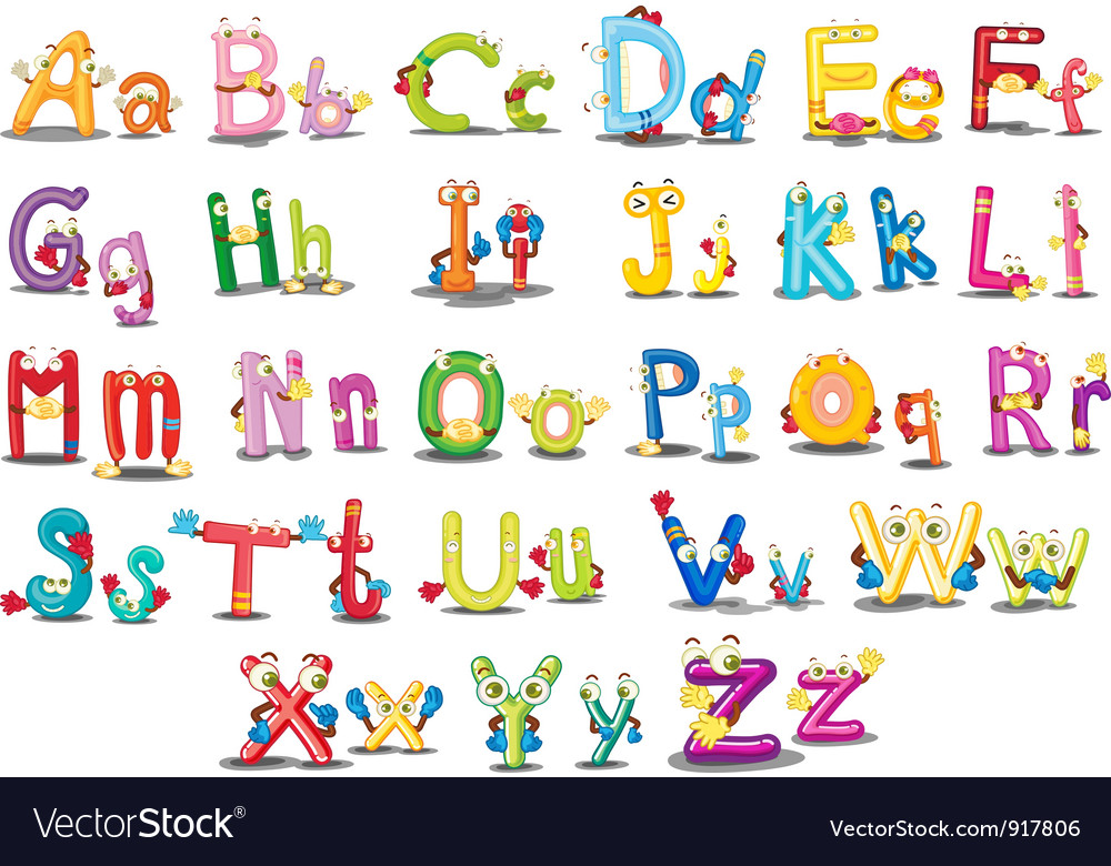 Alphabet characters vector | Price: 3 Credit (USD $3)