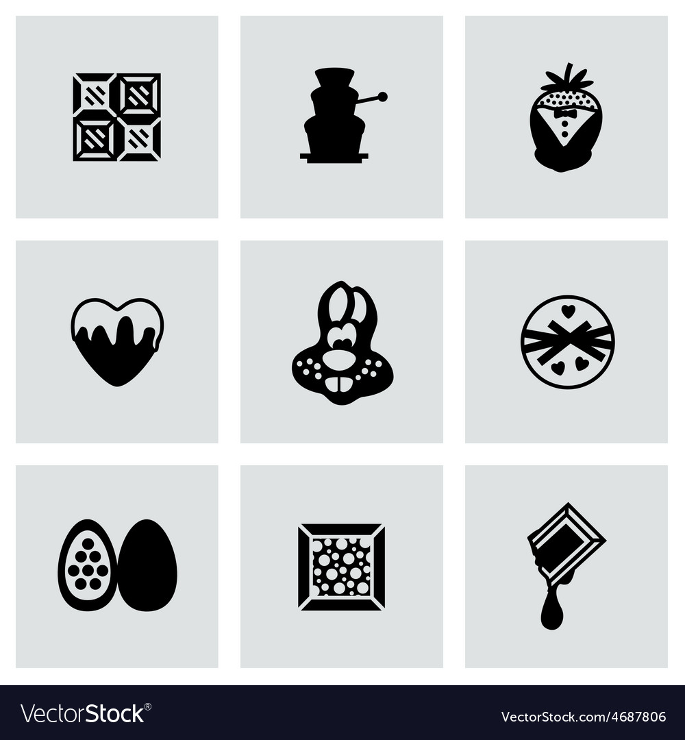 Chocolate icon set vector | Price: 1 Credit (USD $1)