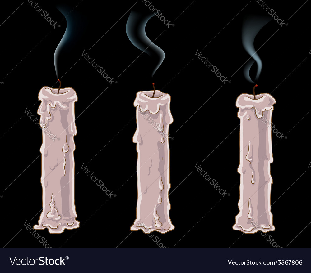 Fading candles vector | Price: 1 Credit (USD $1)