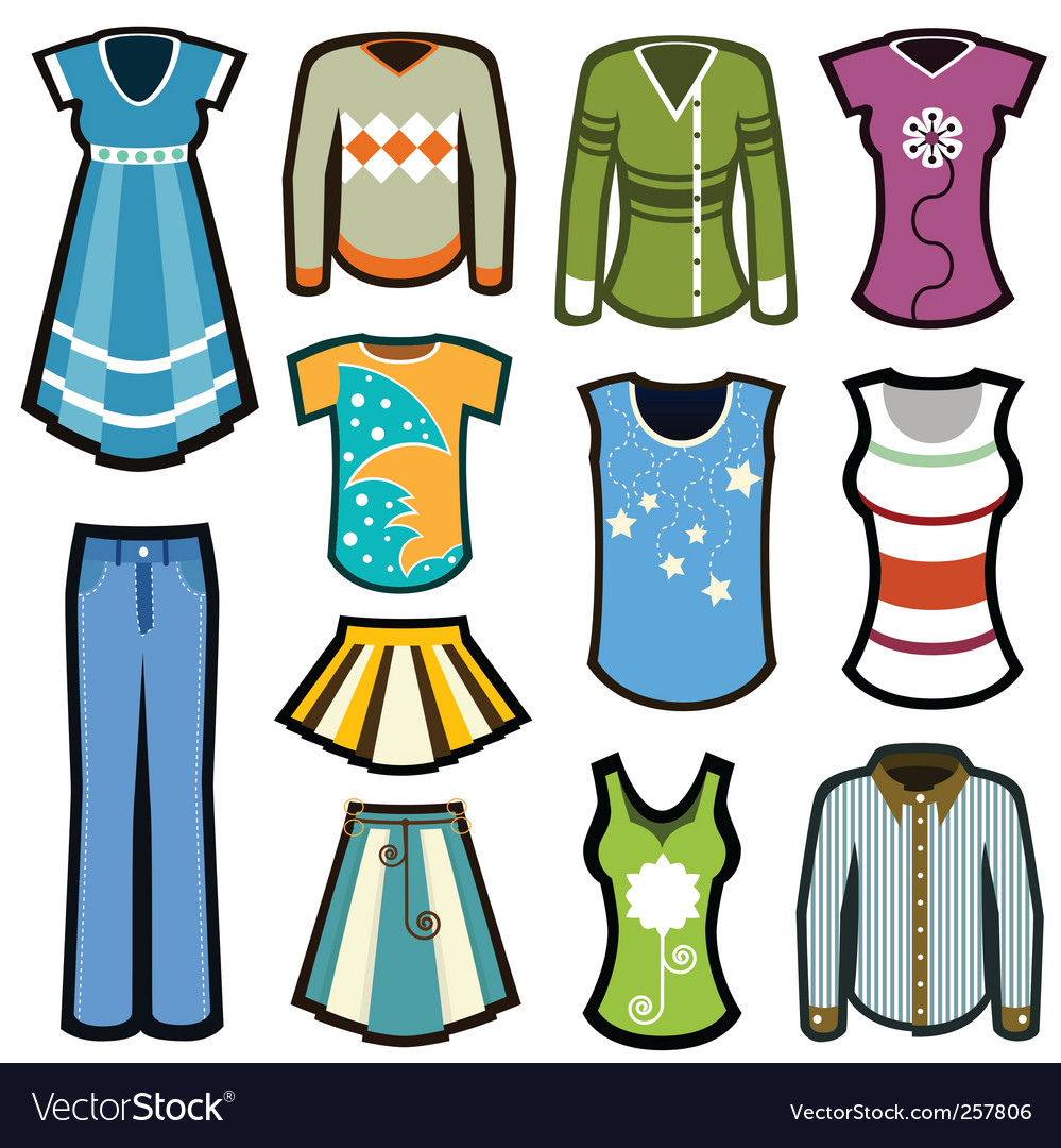 Fashion woman icons vector | Price: 1 Credit (USD $1)