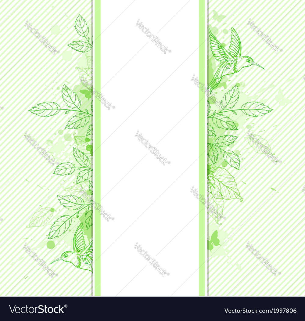 Green striped ecology vertical banner vector | Price: 1 Credit (USD $1)