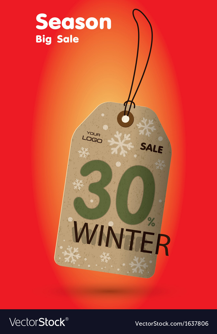 Winter sale labels vector | Price: 1 Credit (USD $1)