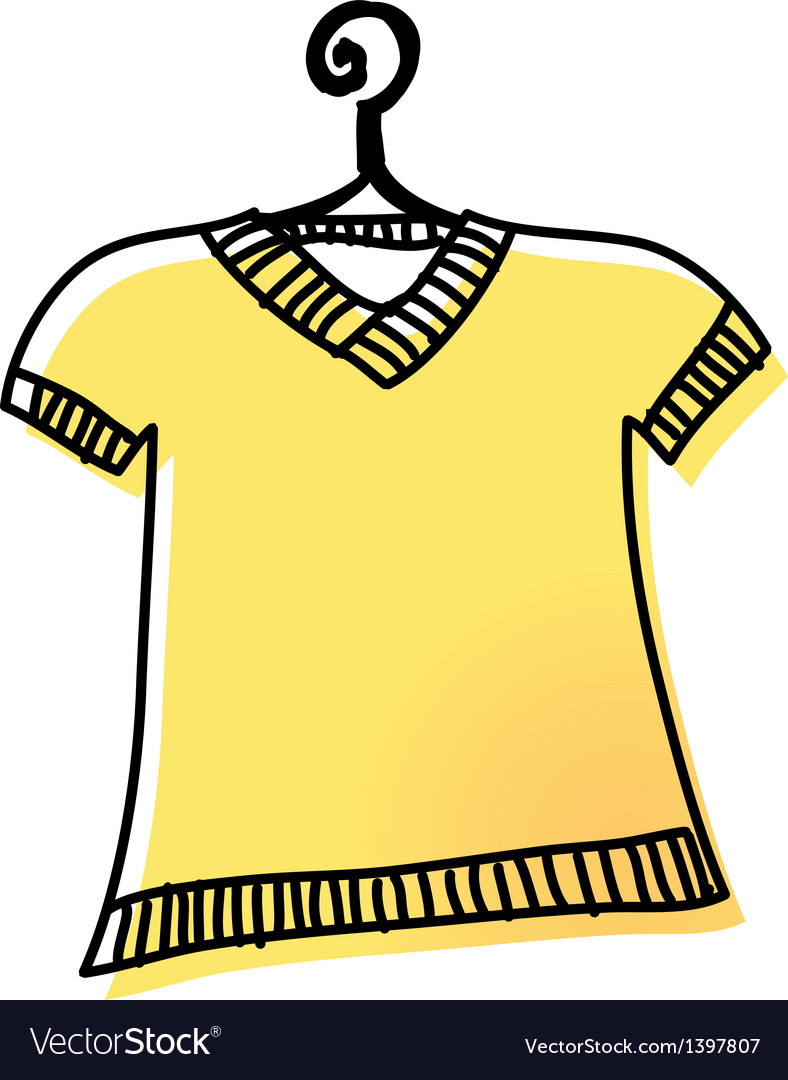 A shirt is on the rack vector | Price: 1 Credit (USD $1)