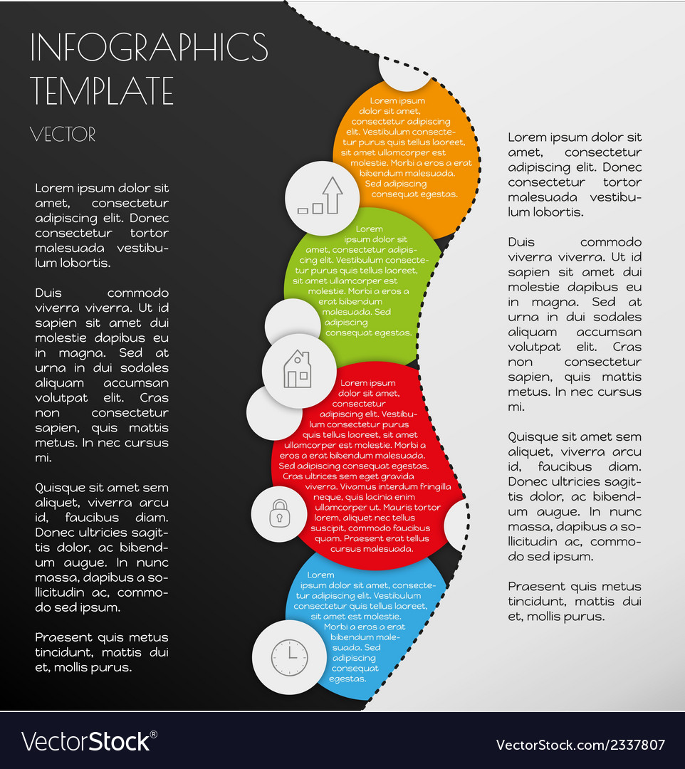 Black and white infographics vector | Price: 1 Credit (USD $1)