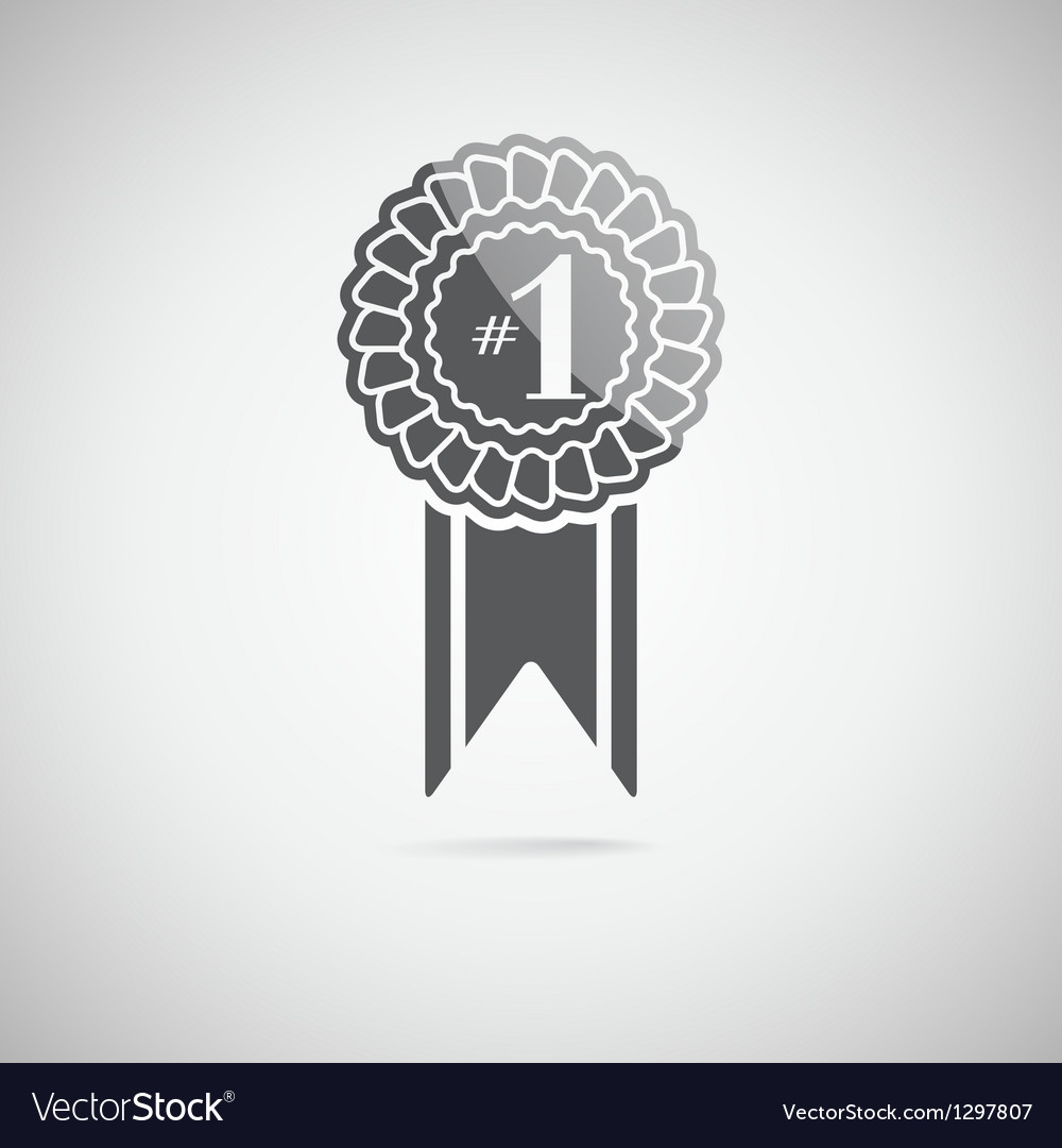 Black award icon vector | Price: 1 Credit (USD $1)