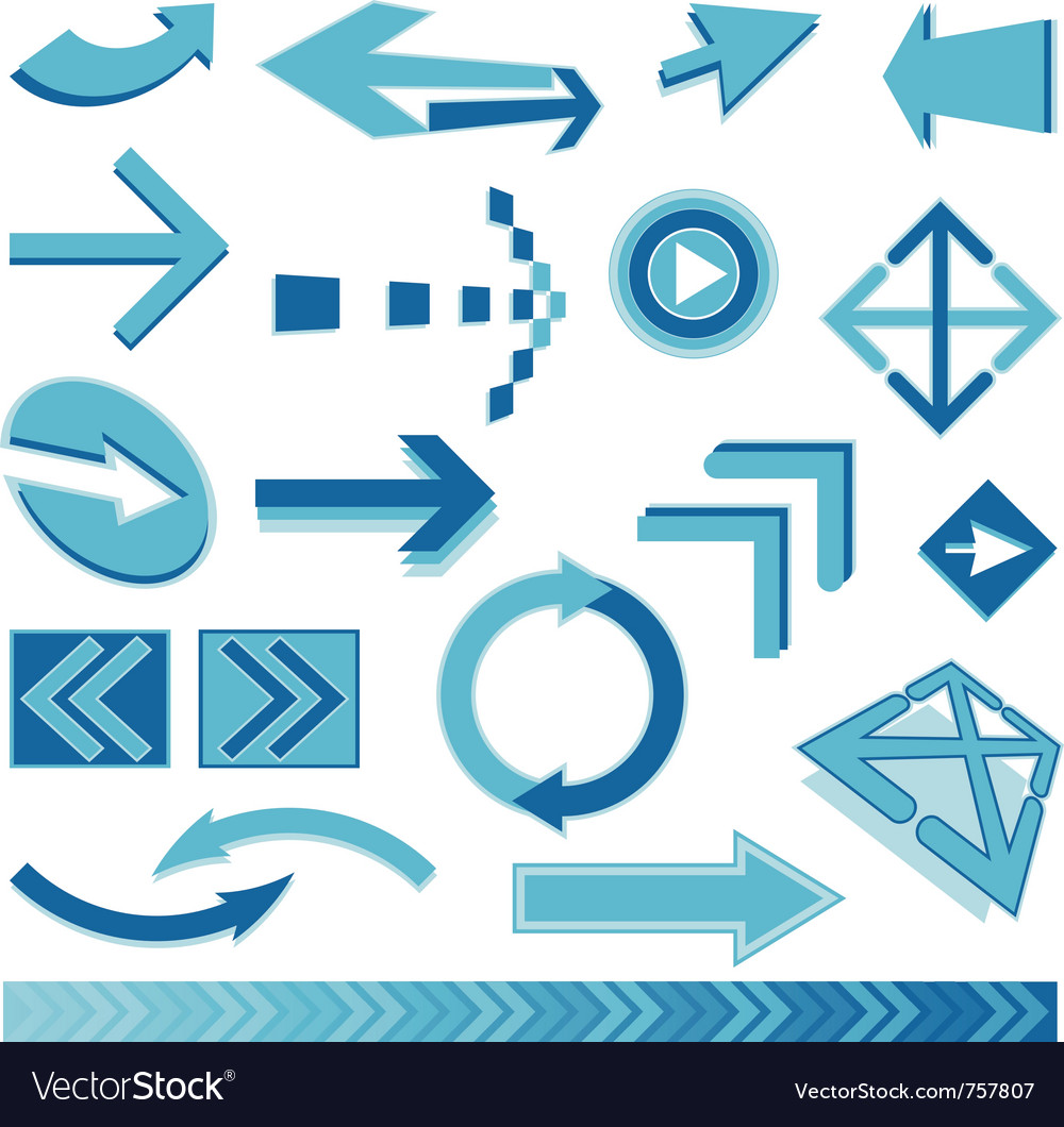 Blue arrows sign vector | Price: 1 Credit (USD $1)