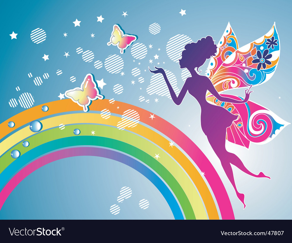 Fairy rainbow graphic vector | Price: 1 Credit (USD $1)