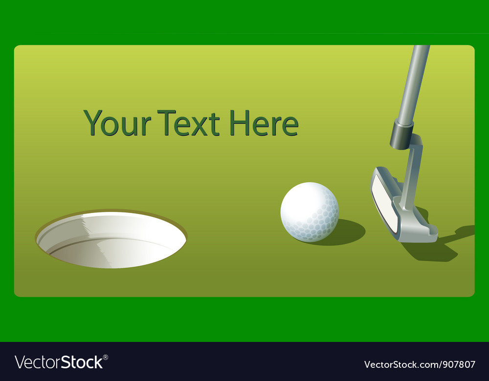 Golf putt vector | Price: 1 Credit (USD $1)