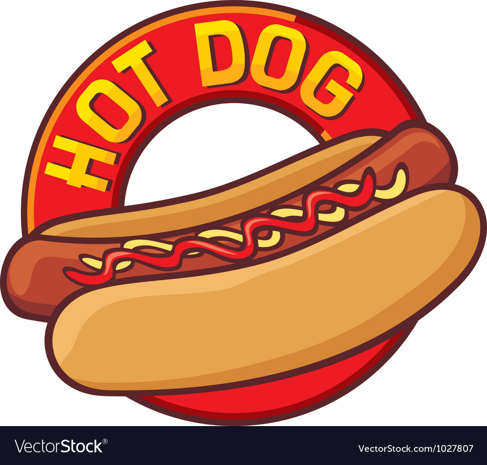 Hot dog label vector | Price: 1 Credit (USD $1)