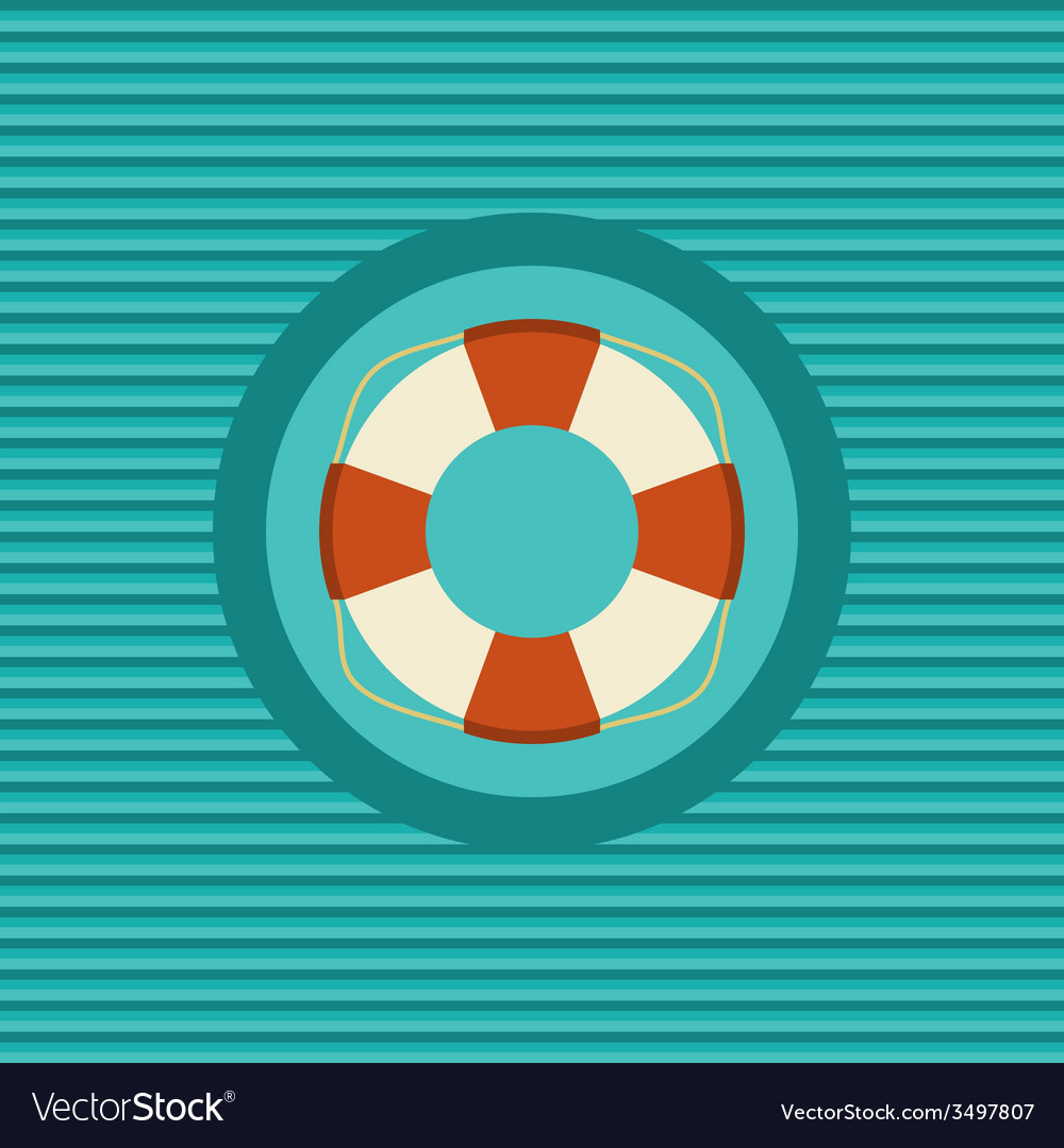Lifebuoy flat icon vector | Price: 1 Credit (USD $1)