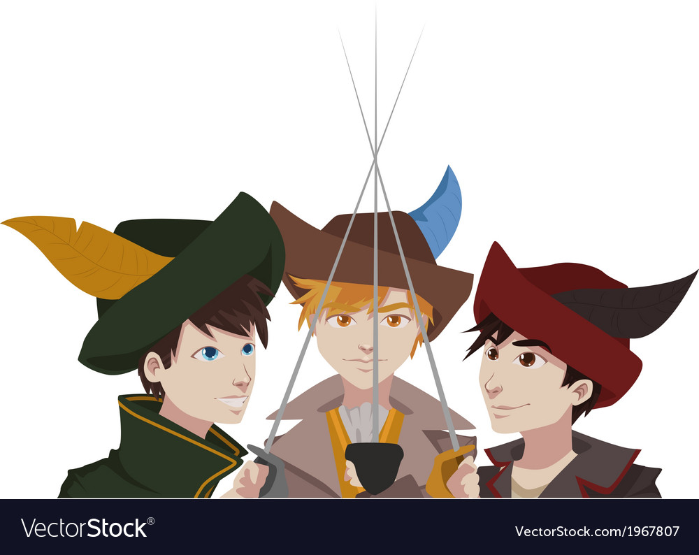 Musketeers vector | Price: 1 Credit (USD $1)