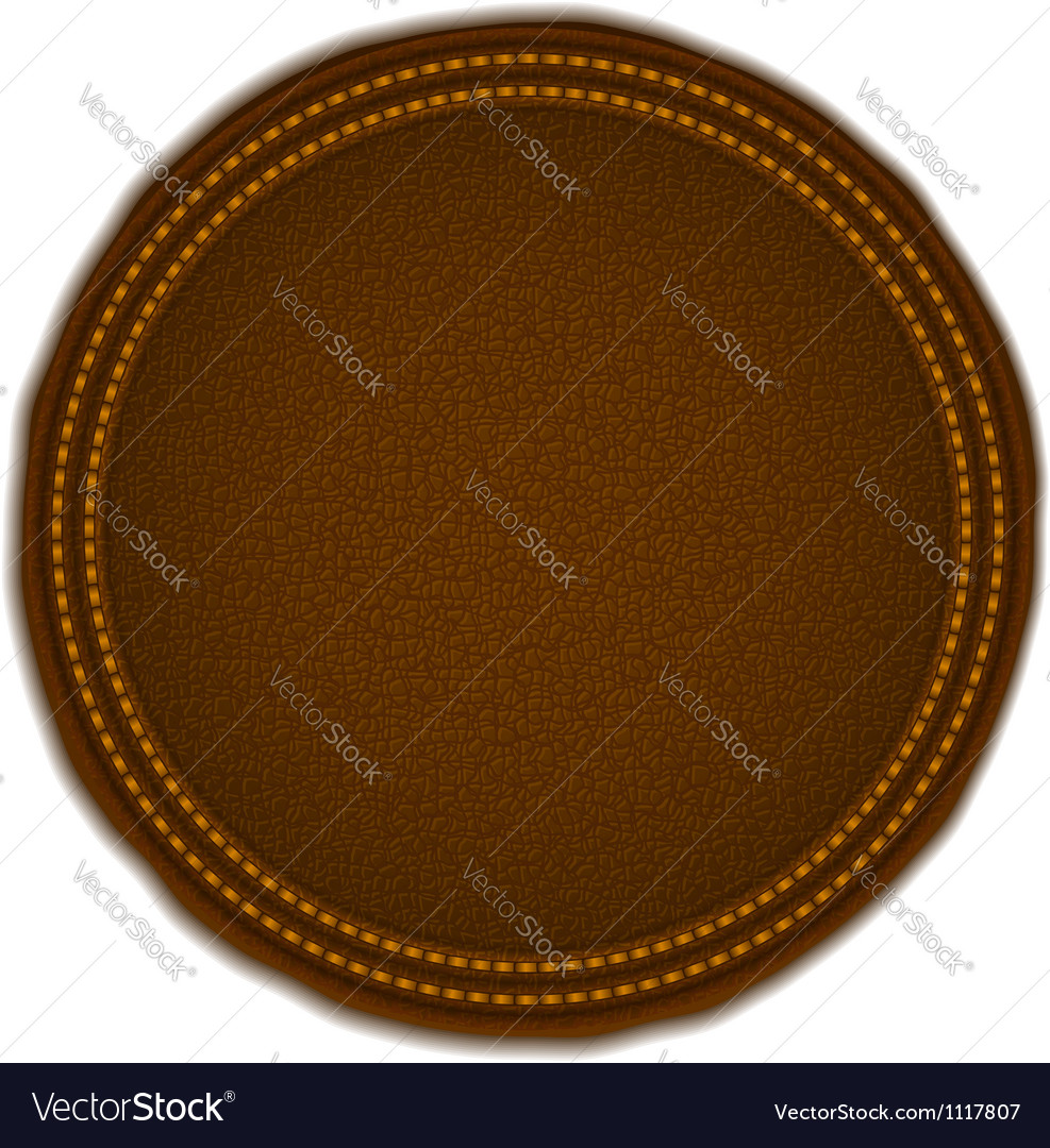 Round leather badge vector | Price: 1 Credit (USD $1)
