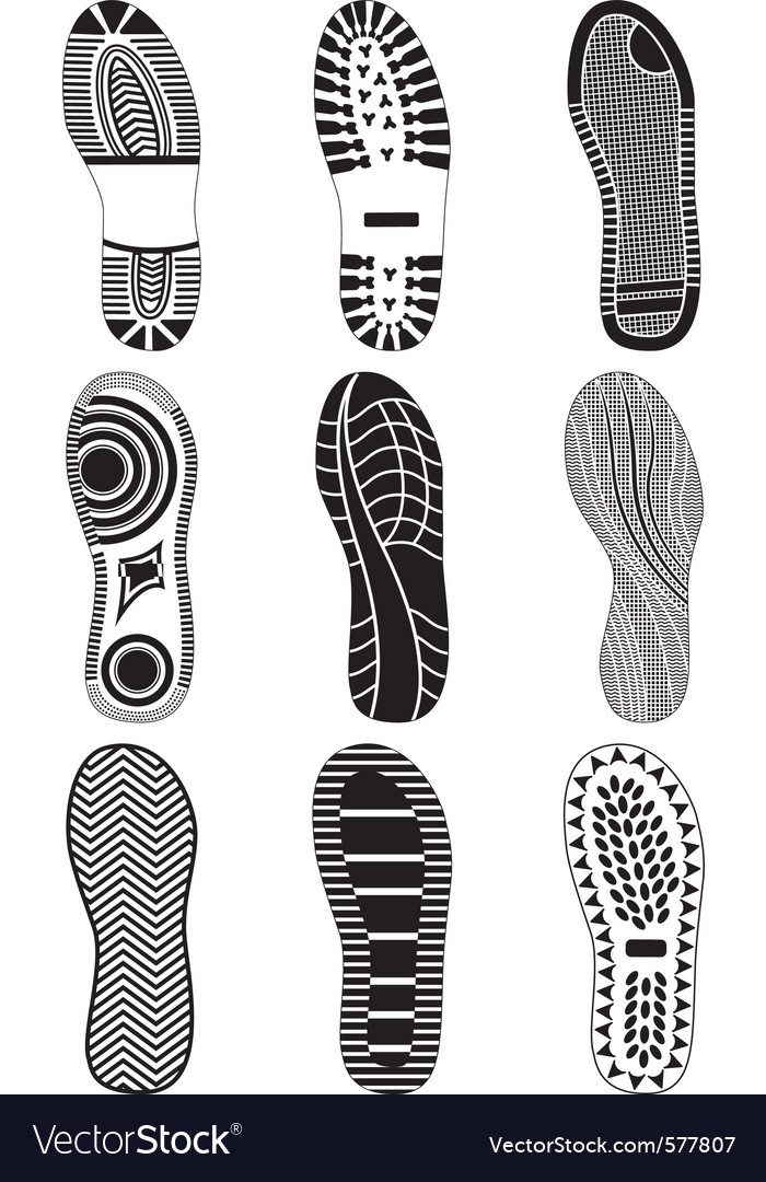 Set of footprints vector | Price: 1 Credit (USD $1)