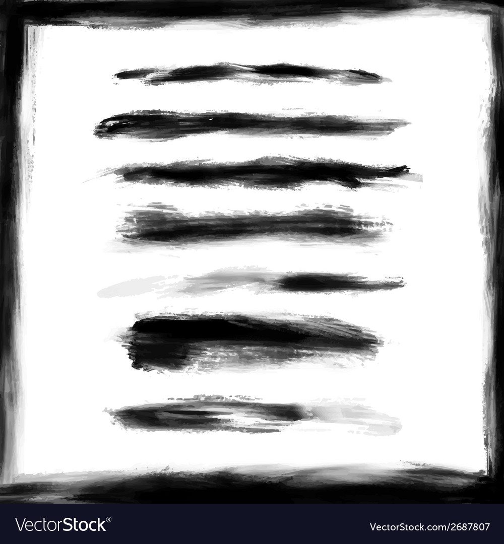 Splash frame and brush strokes design elements vector | Price: 1 Credit (USD $1)