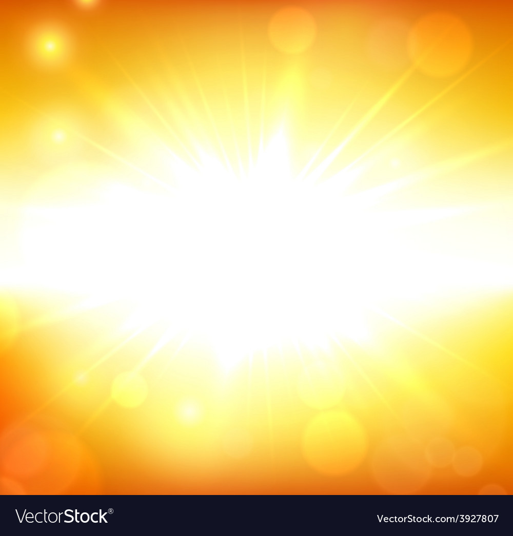 Summer view blurry orange sky background vector | Price: 1 Credit (USD $1)
