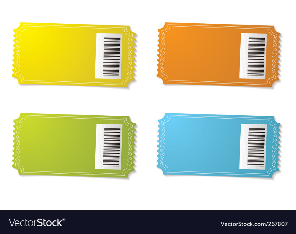 Ticket stub barcode vector | Price: 1 Credit (USD $1)