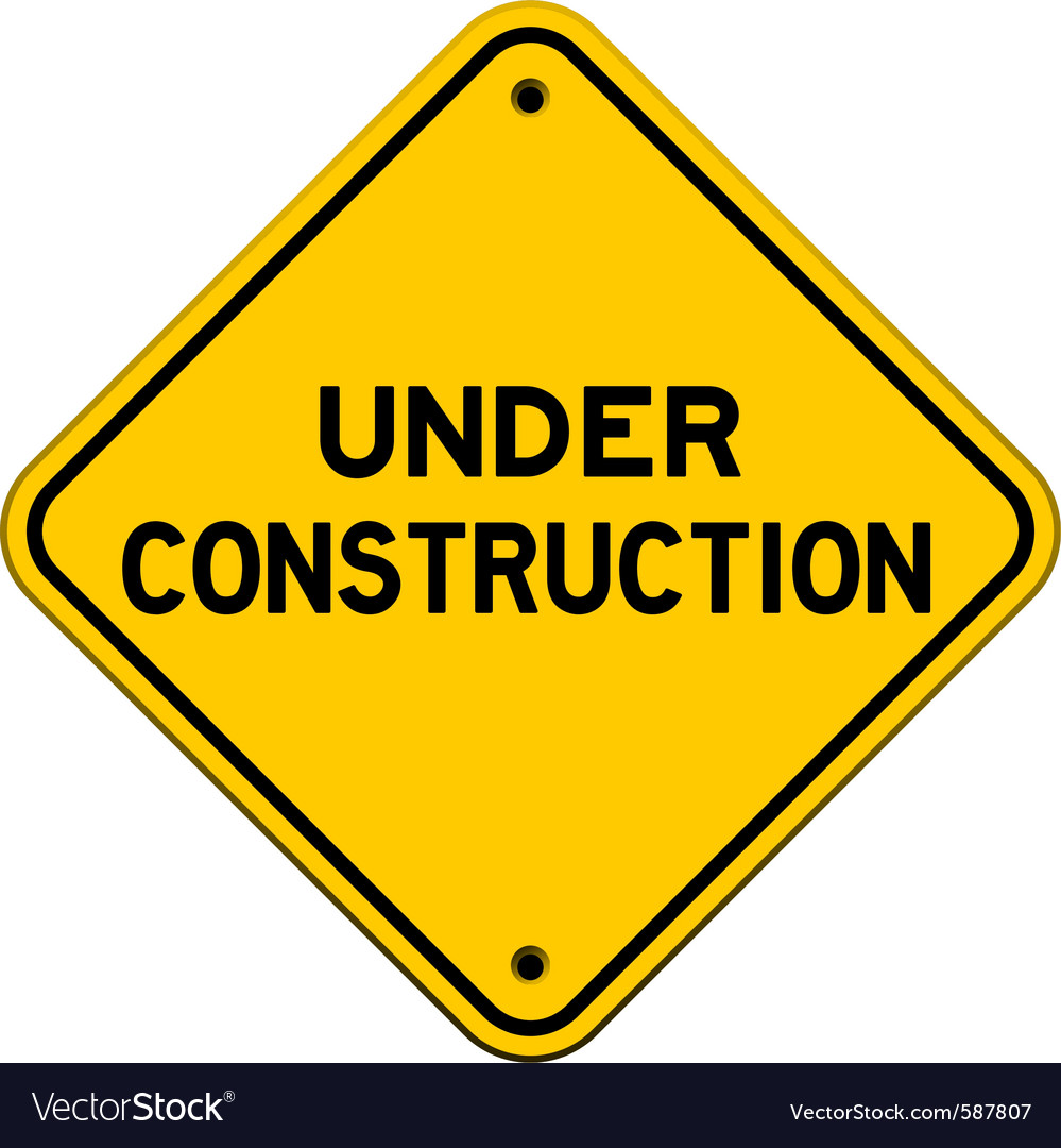 Under construction yellow sign vector | Price: 1 Credit (USD $1)