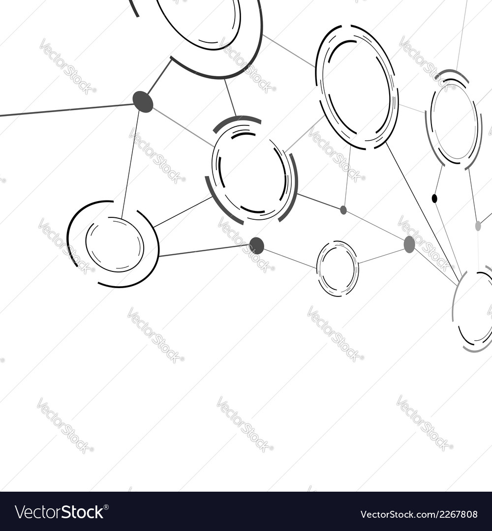 Abstract communication structure template vector | Price: 1 Credit (USD $1)