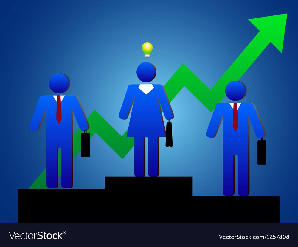 Business people idea vector | Price: 1 Credit (USD $1)