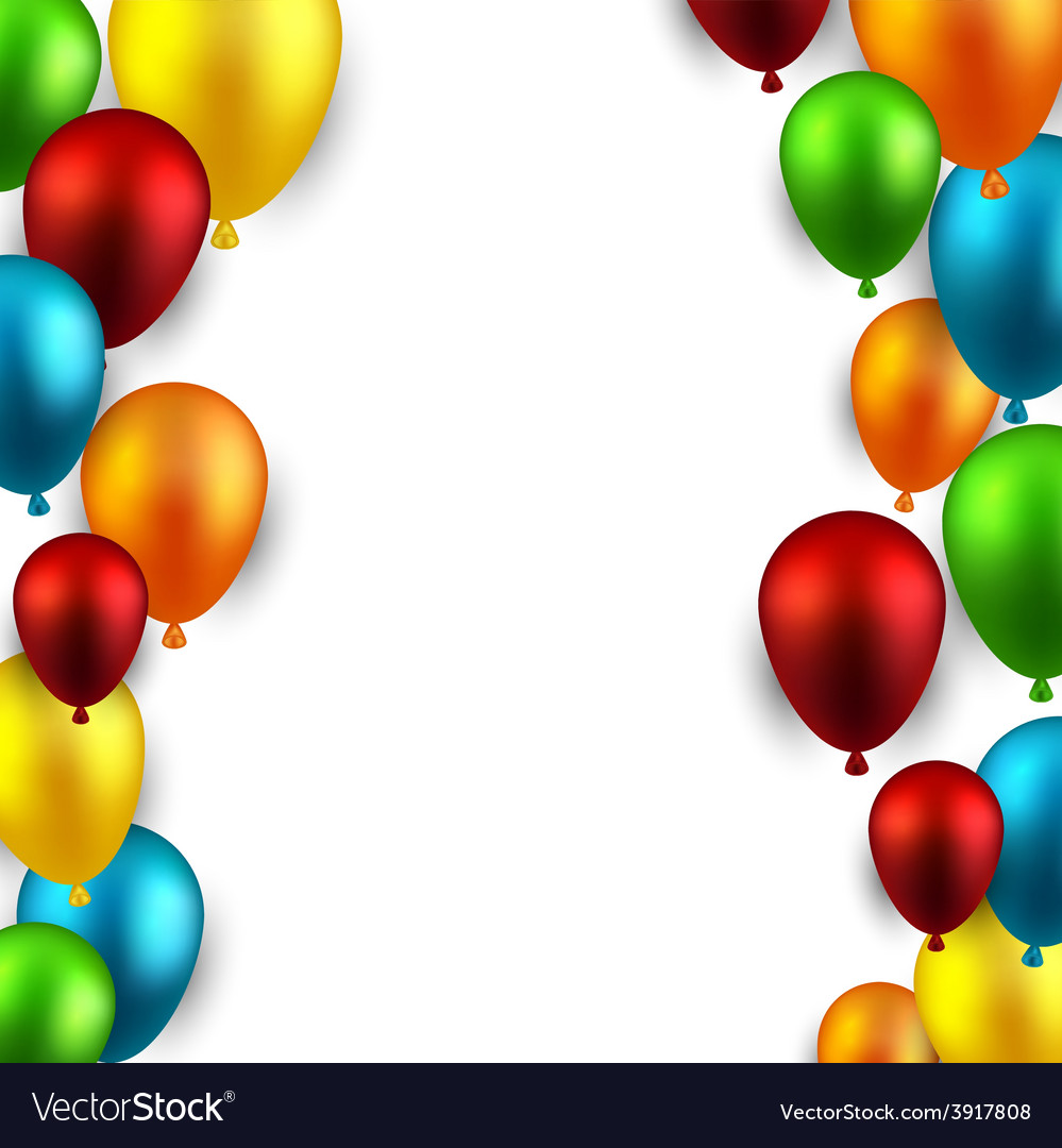 Celebrate frame background with balloons vector   Price: 1 Credit (USD $1)