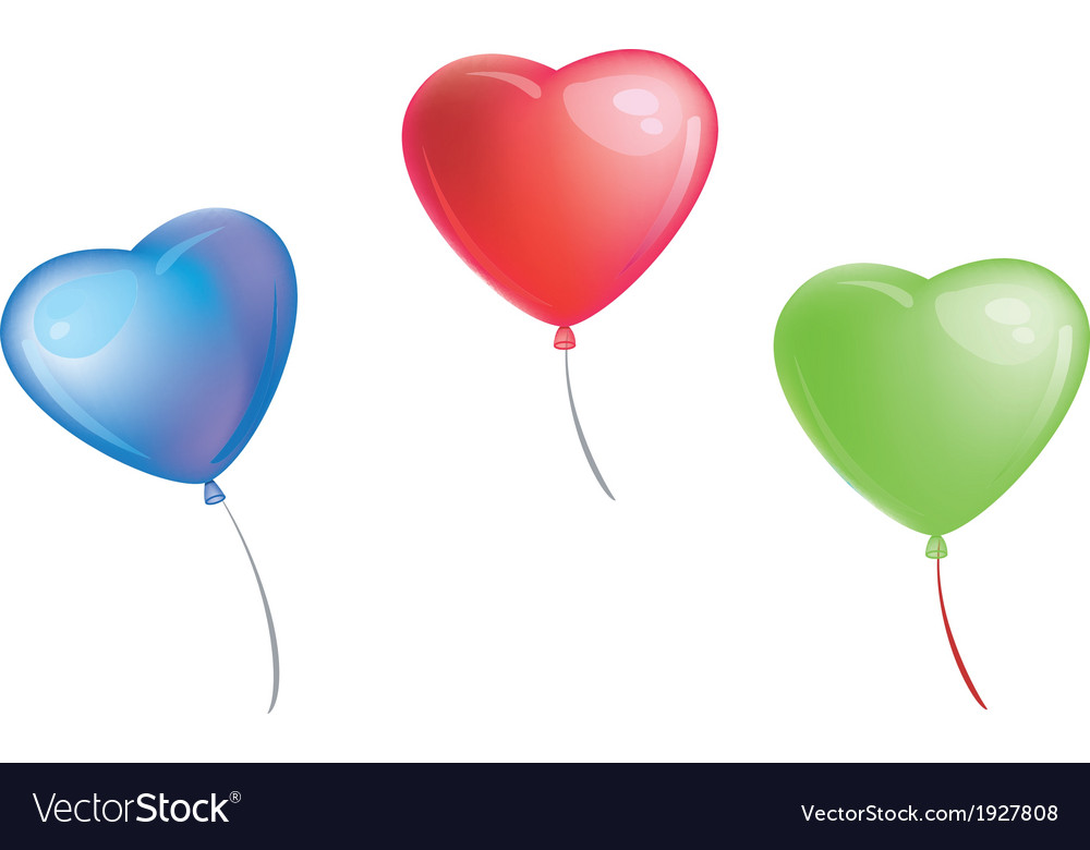 Colorful heart shape balloons vector | Price: 1 Credit (USD $1)