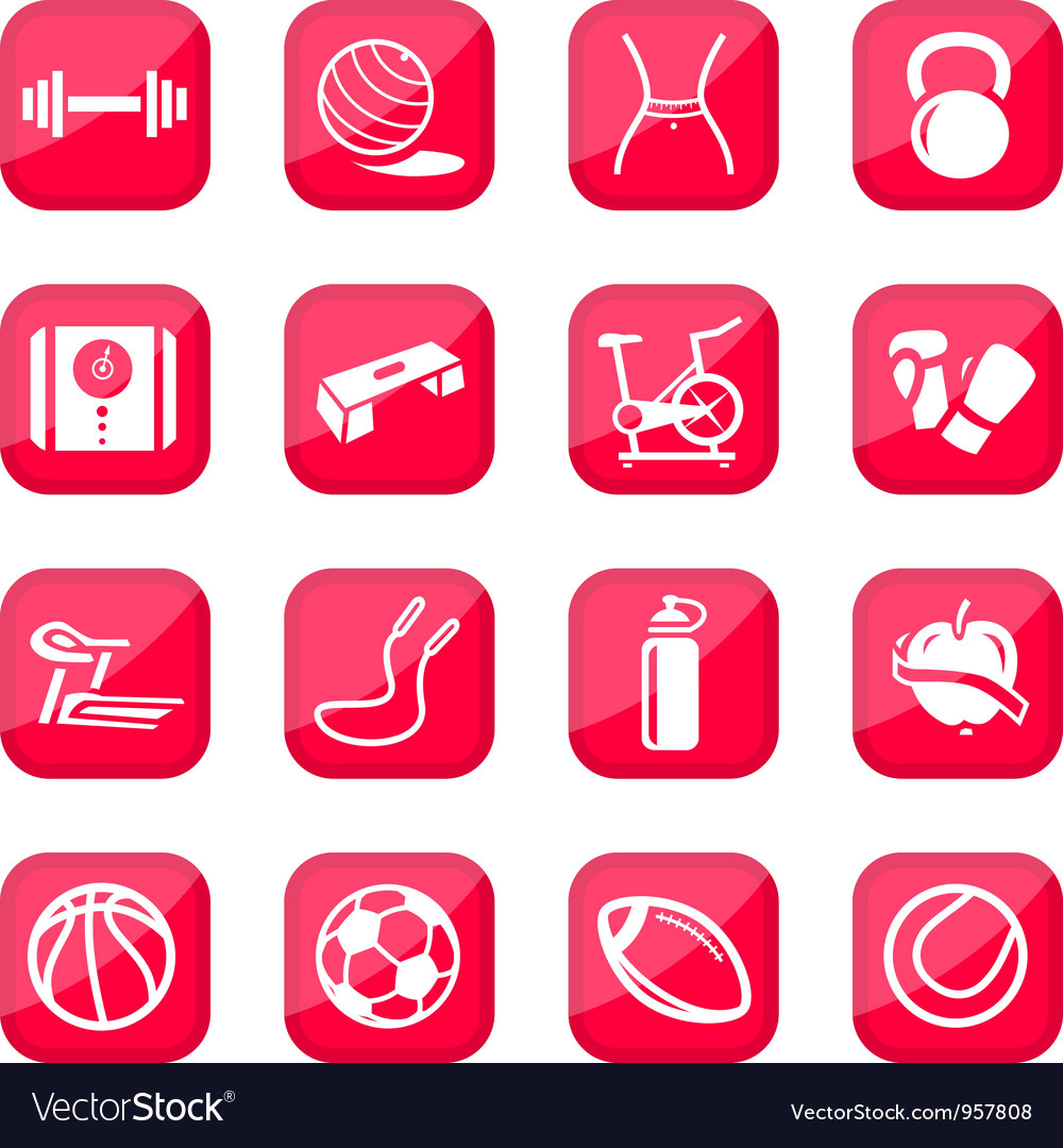 Fitness icons vector   Price: 1 Credit (USD $1)