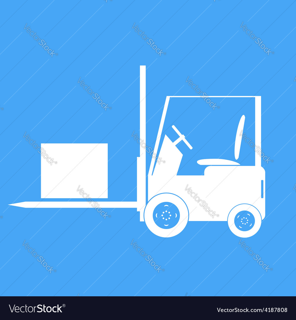 Forklift with a load vector | Price: 1 Credit (USD $1)