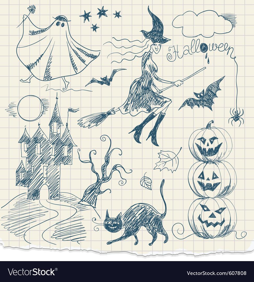 Halloween doodles vector | Price: 1 Credit (USD $1)