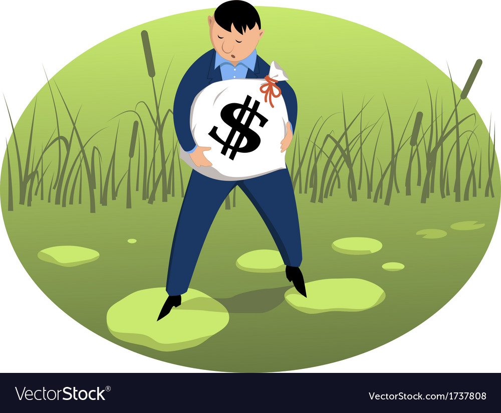 Investor on shaky ground vector | Price: 1 Credit (USD $1)