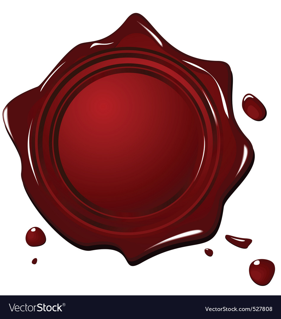 Illustration of wax grunge red seal vector | Price: 1 Credit (USD $1)
