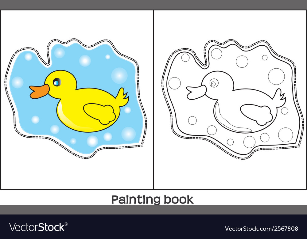 Painting book vector | Price: 1 Credit (USD $1)