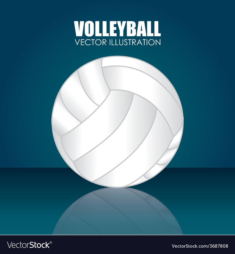 Sport design over blue background vector | Price: 1 Credit (USD $1)