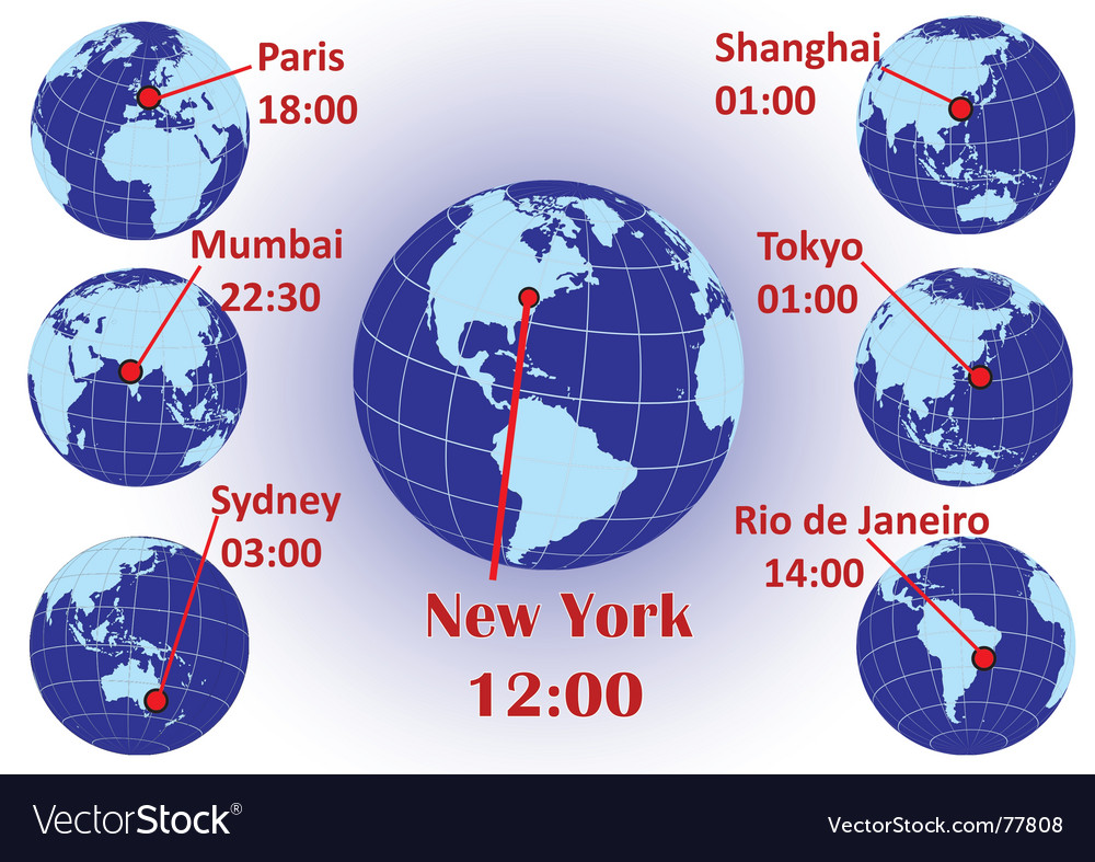 Time zones vector | Price: 1 Credit (USD $1)