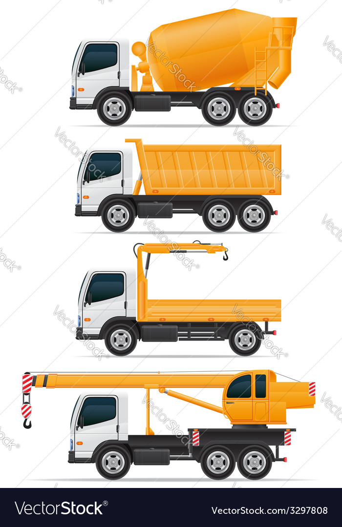 Trucks designed for construction vector | Price: 3 Credit (USD $3)