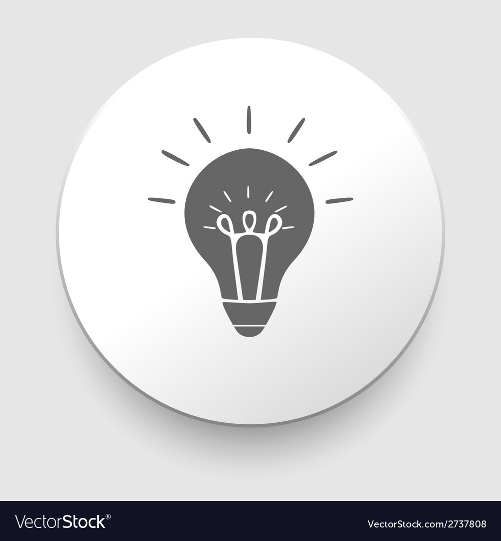 Web icon - lamp on white background vector | Price: 1 Credit (USD $1)