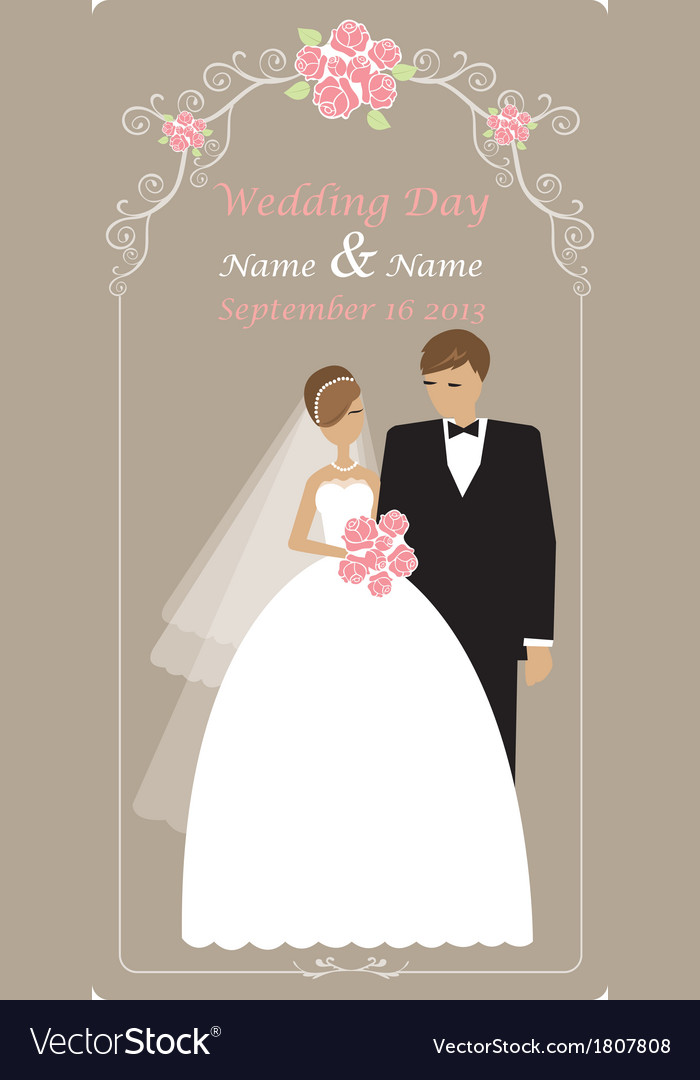 Wedding cards with space for text vector | Price: 1 Credit (USD $1)