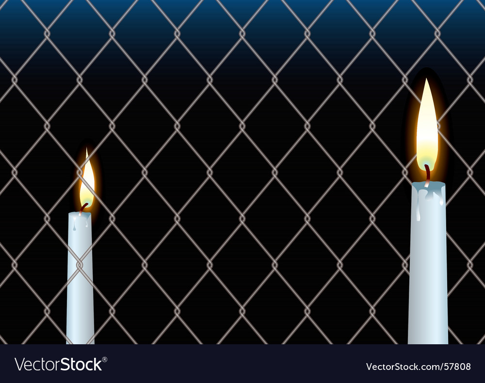 Wire fence candle vector | Price: 1 Credit (USD $1)