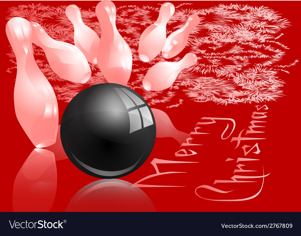 Christmas bowling strike vector | Price: 1 Credit (USD $1)