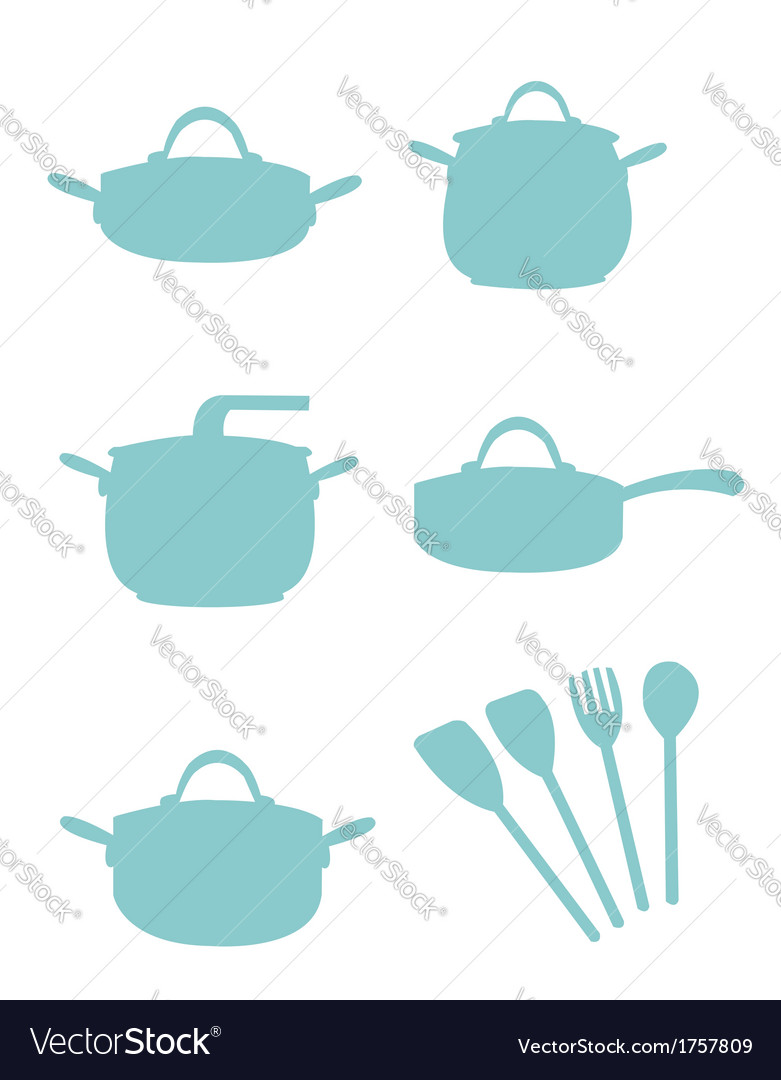 Cooking equipment silouette vector | Price: 1 Credit (USD $1)