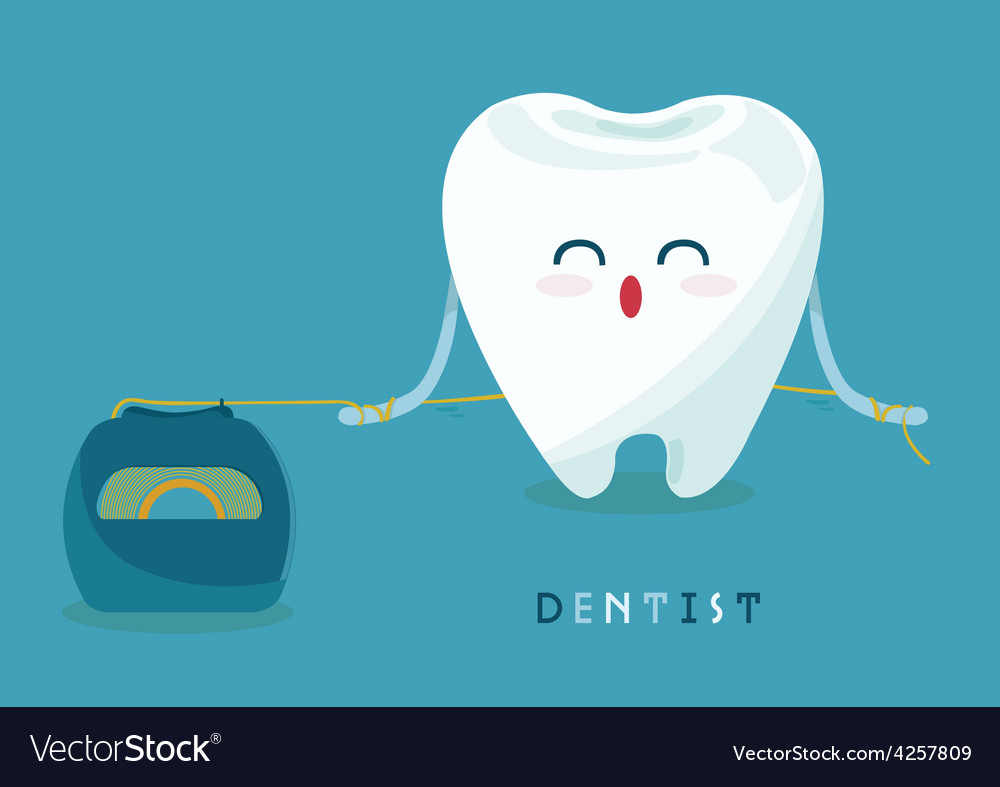 Floss tooth vector | Price: 3 Credit (USD $3)