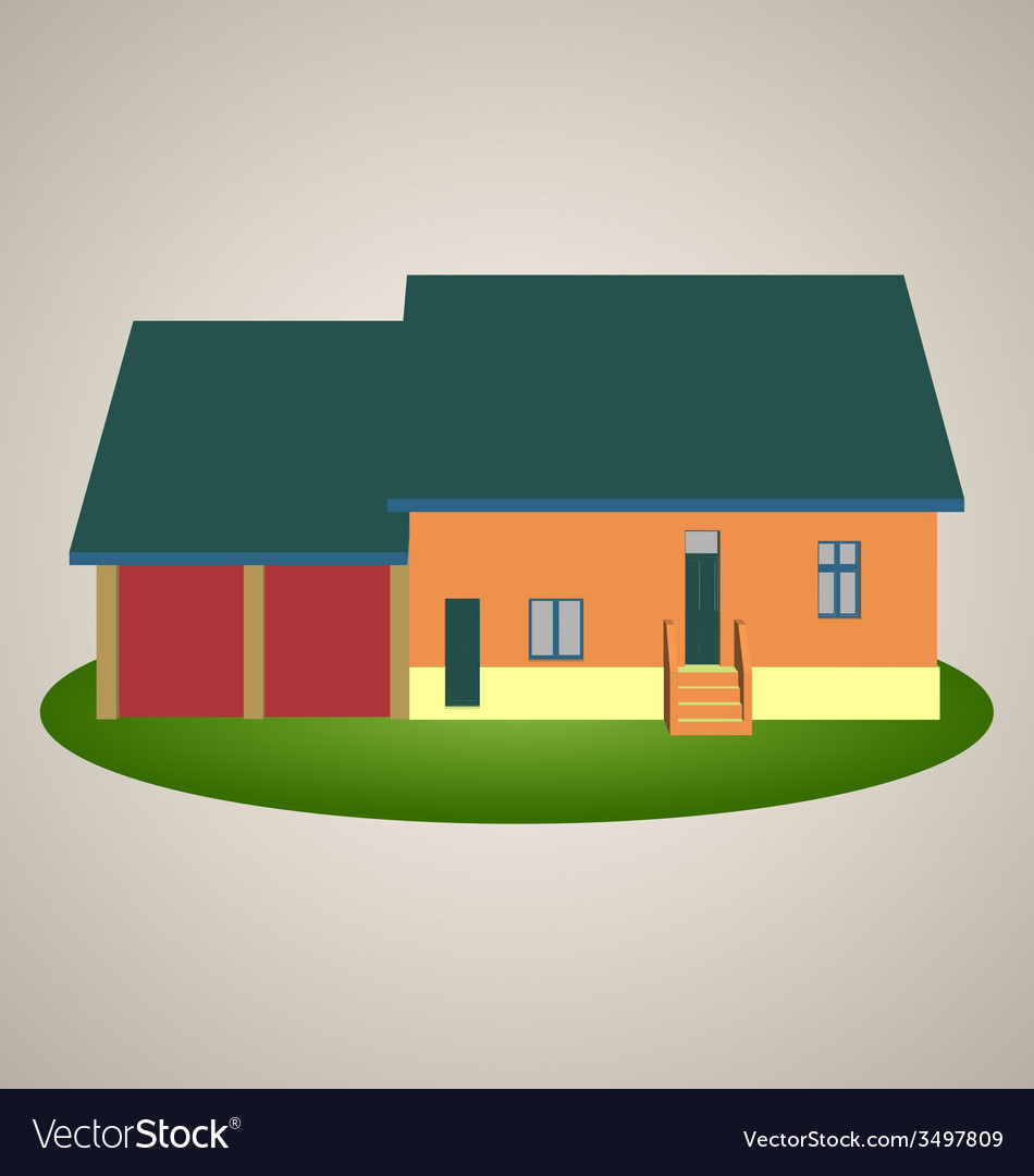 Front view house 1 vector | Price: 1 Credit (USD $1)
