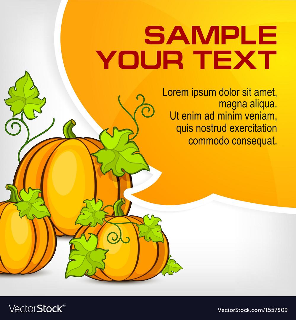 Halloween pumpkins  speech vector | Price: 1 Credit (USD $1)