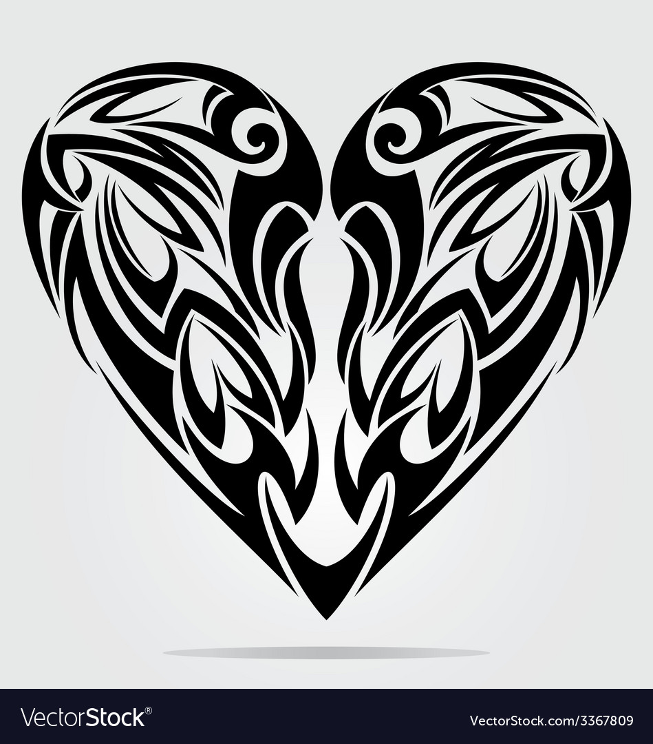 Heart tattoo design vector | Price: 1 Credit (USD $1)
