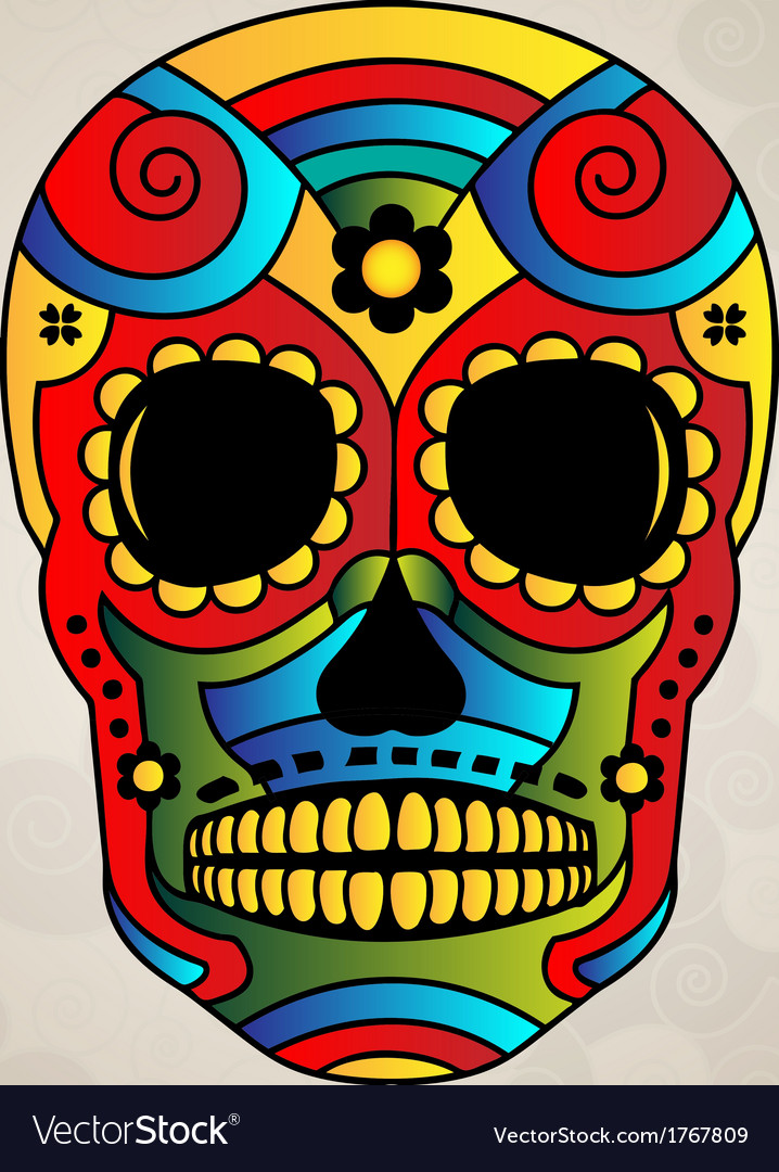 Sugar skull mexico day of dead - vector | Price: 1 Credit (USD $1)