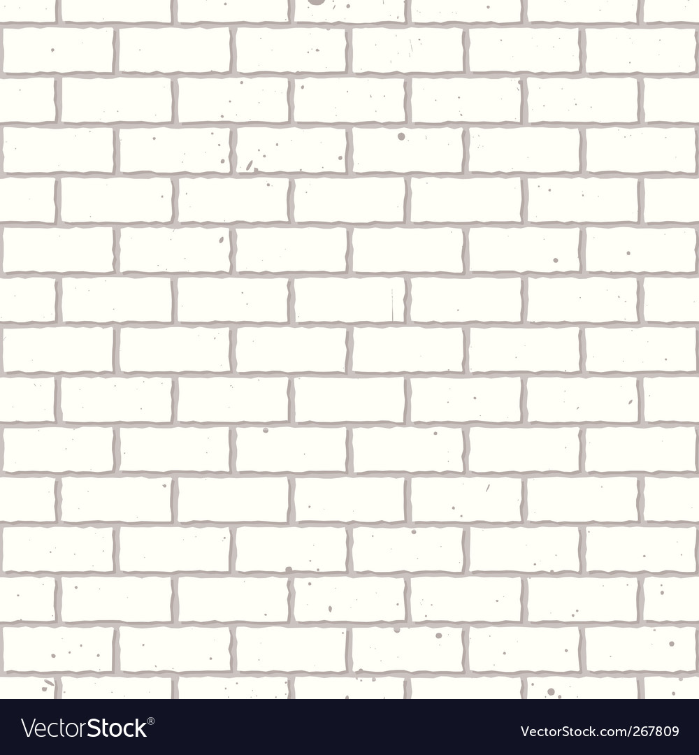 White seamless brick wall vector | Price: 1 Credit (USD $1)
