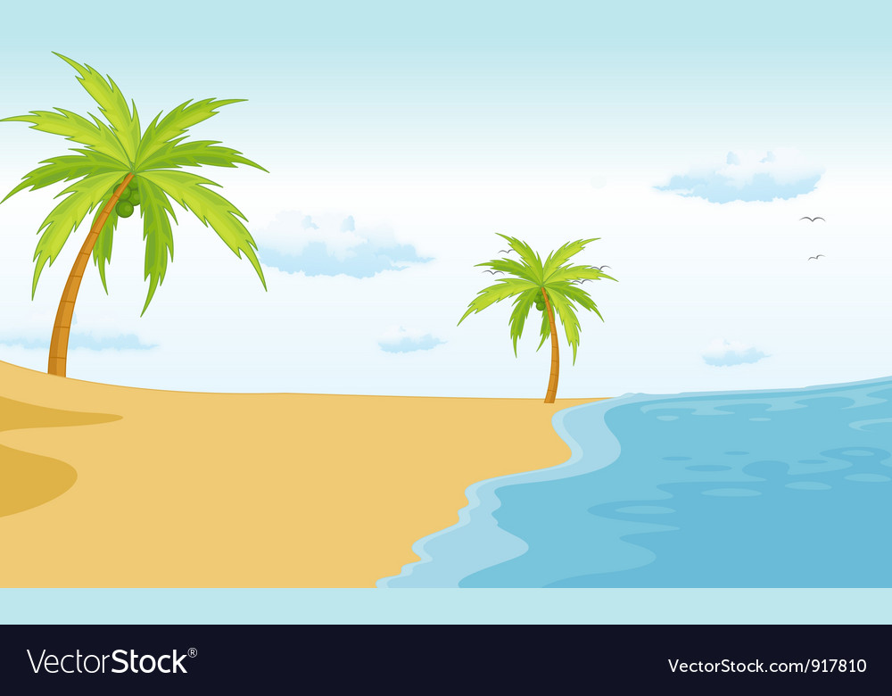 Beach paradise vector | Price: 3 Credit (USD $3)