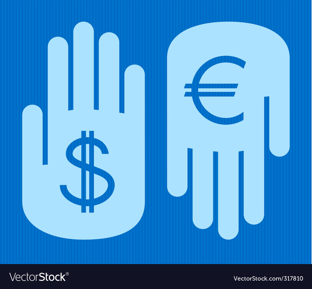 Currency conversion vector | Price: 1 Credit (USD $1)